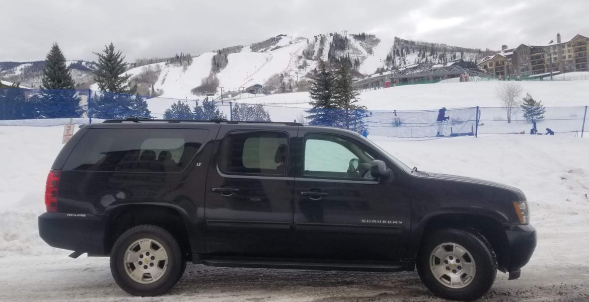 Denver Airport SUV transportation to and from Steamboat Springs ski resorts