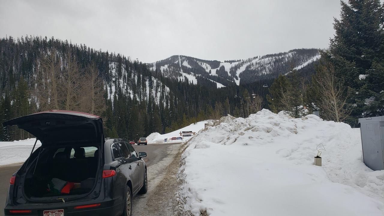 black car arriving at Winter Park