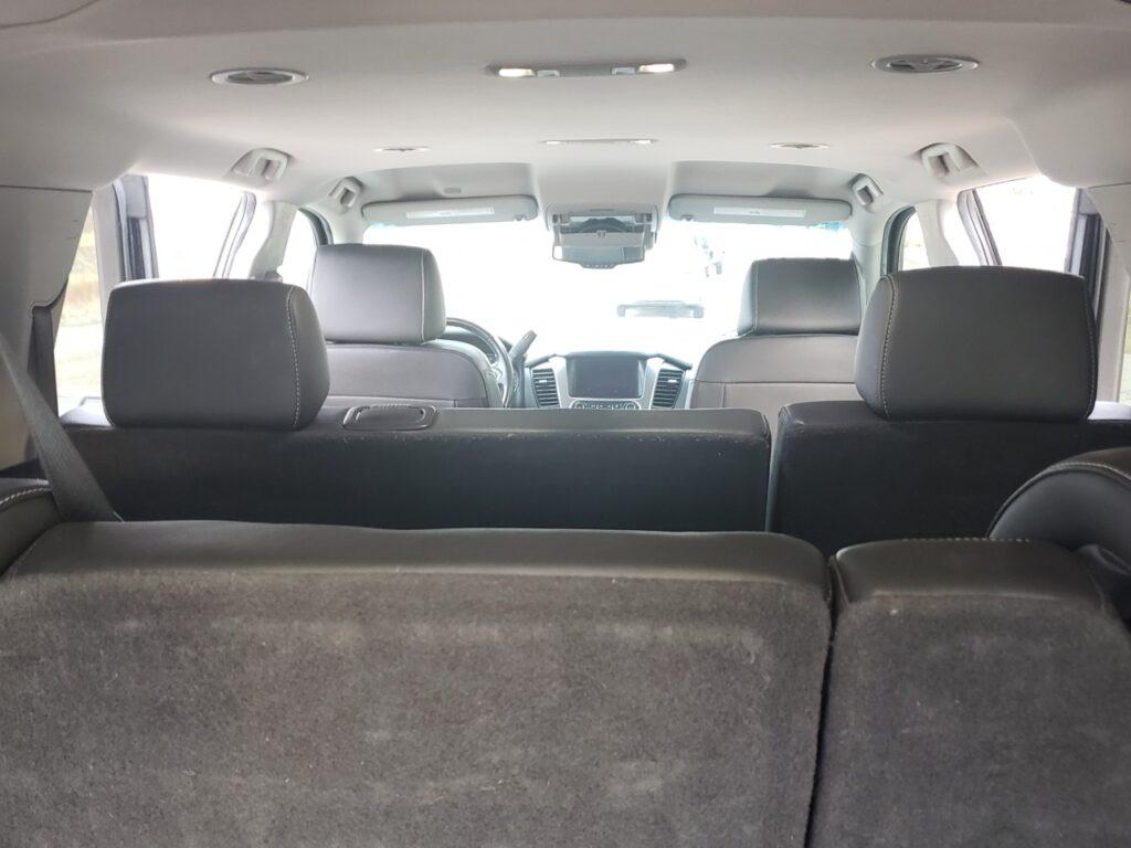 007 Limo inside SUV